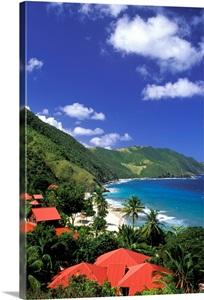 Caribbean Us Virgin Islands St Croix Cane Bay Carambola Beach Resort Photo Canvas Print