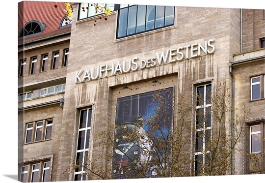 germany berlin exterior of popular kadewe department store wall art canvas prints framed. Black Bedroom Furniture Sets. Home Design Ideas
