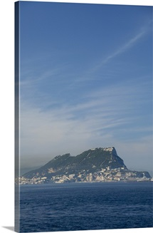 Iberian Peninsula, Rock Of Gibraltar. Off The Tip Of Spain
