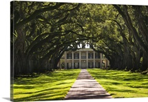 Louisiana, Vacherie. Oak Alley Plantation, antibellum mansion