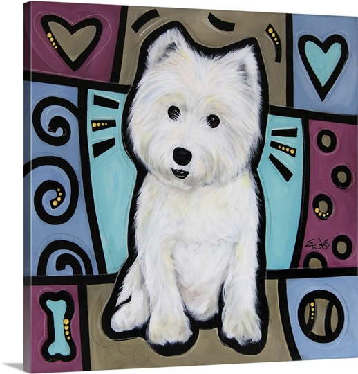 West Highland White Terrier Pop Art
