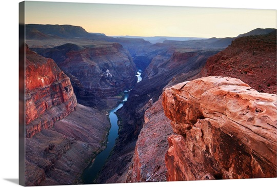Pacific Rim Equipment >> Arizona, Grand Canyon, Sunset on Colorado River from Toroweap Point on the North Rim Photo ...