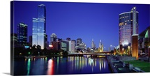 Australia, Victoria, Melbourne, Night view