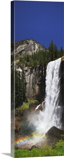 Rainbow At Vernal Falls In Yosemite National Park Stock ...   Yosemite Vernal Falls Rainbow