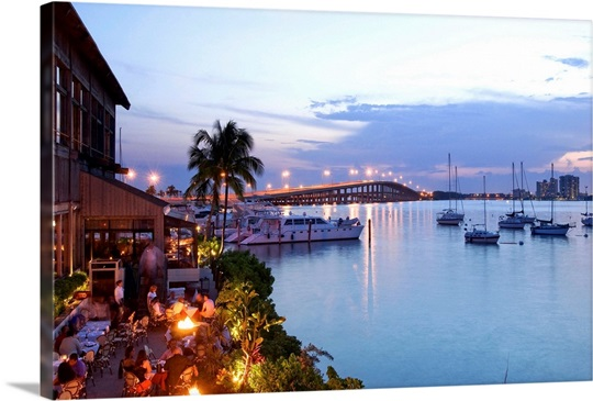 Florida Miami Rusty Pelican Restaurant And Rickenbacker