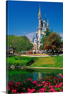Florida, Orlando, Disney World, Magic Kingdom, Cinderella Castle