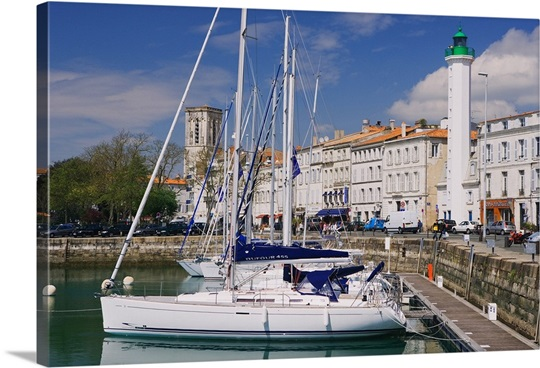 france poitou charentes la rochelle town harbor photo canvas print great big canvas. Black Bedroom Furniture Sets. Home Design Ideas
