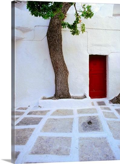 Greece, Cyclades, Serifos, Moni Taxiarchon Monastery Photo ...