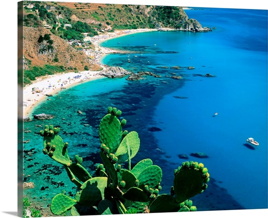 Capo Vaticano Italy  city photos gallery : Italy, Calabria, Capo Vaticano, Beaches of Coccorinello Photo Canvas ...