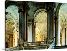 Italy, Campania, Caserta, Royal Palace of Caserta, great royal staircase