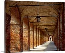 Italy, Lombardy, Sabbioneta town, Galleria degli Antichi