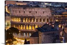 Italy, Rome, Roman Forum, Colosseum, View from Altare della Patria