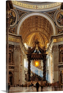 Italy, Rome, Saint Peter's Cathedral, Bernini's Baldacchino
