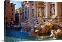 Italy, Rome, Trevi fountain