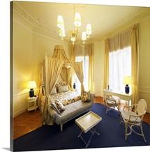 Italy, Tuscany, Versilia, Viareggio town, Grand Hotel Principe di Piemonte, bedroom