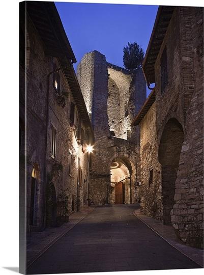 Italy umbria mediterranean area perugia district - Porta san giacomo assisi ...