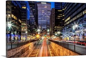 new york city manhattan night scene over park avenue photo canvas print great big canvas. Black Bedroom Furniture Sets. Home Design Ideas