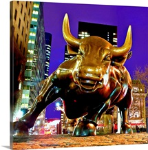 New York, New York City, Bowling Green, The Charging Bull, Financial district icon
