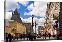 Russia, Moscow, Arbat Street, pedestrian and shopping street close to city center