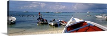 South America, Venezuela, Islas Los Roques, Gran Roque island, fishing boats