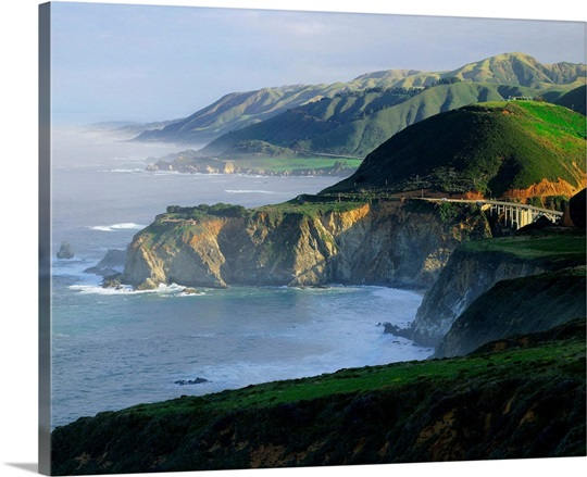 United States, California, Big Sur region, Bixby Creek ...