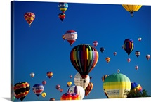 United States, New Mexico, Albuquerque town, International Balloon festival