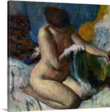 After the Bath, c. 1880-89, Pastel by French Impressionist Edgar Degas