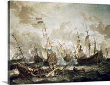Battle of Abukir. (B. of the Nile) July 25, 1799. British defeat French Navy