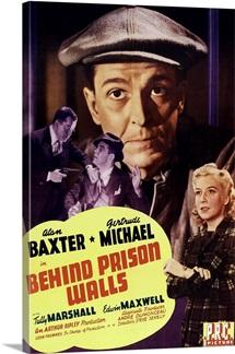 Behind Prison Walls - Vintage Movie Poster, 1943