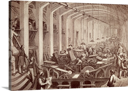 charles laure 39 s printing shop 19th c engraving carnavalet museum paris france photo canvas. Black Bedroom Furniture Sets. Home Design Ideas