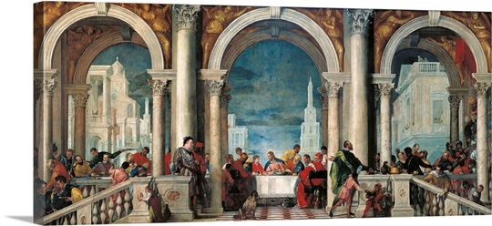 Christ in the House of Levi, by Veronese, 1573 Photo ...