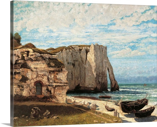 cliff at etretat after the storm by gustave courbet 1870 musee d 39 orsay paris france photo. Black Bedroom Furniture Sets. Home Design Ideas