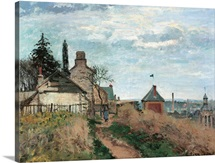Courthouse at Pontoise, by Camille Pissarro, 1872. Musee d'Orsay, Paris, France