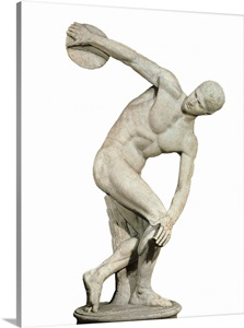 Discobolus of Myron. Greek. ca. 460 - 450 BC Wall Art ...