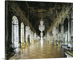Hall Of Mirrors In The Palace Of Versailles Photo Canvas