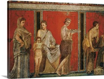 Initiation into the mysterious Dionysion cult, Roman art