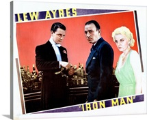 Iron Man, Lobbycard, Lew Ayres, Robert Armstrong, Jean Harlow, 1931