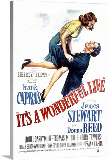 It 39 S A Wonderful Life Vintage Movie Poster Photo Canvas Print Great Big Canvas