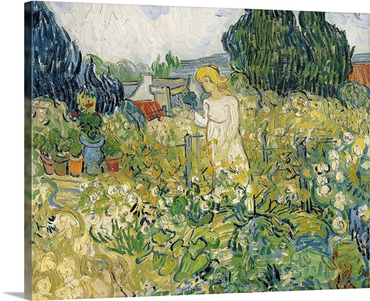 Mademoiselle Gachet In Her Garden At Auvers Sur Oise Photo Canvas Print Great Big Canvas