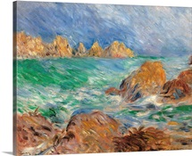 Marine, Guernsey, by Pierre-Auguste Renoir, ca. 1883. Musee d'Orsay, Paris, France