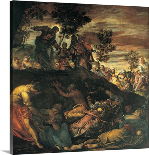 Miracle of the loaves and fishes by tintoretto 1579 for Loaves and fishes san jose