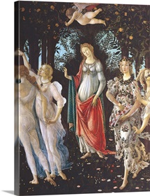 Primavera, Center Section, By Botticelli, C. 1478, Uffizi Gallery, Florence, Italy
