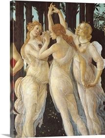 Primavera, Three Graces, By Botticelli, C. 1478, Uffizi Gallery, Florence, Italy