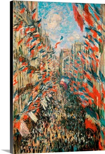 Rue Montorgueil, Paris, Festival Of June 30, 1878, 1878. Musee D'Orsay