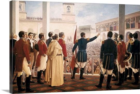 San Martin Proclama La Independencia Del Peru By Juan