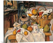 Still life in the Basket, by Paul Cezanne, 1888-1890. Musee d'Orsay, Paris, France