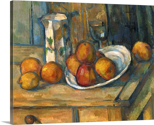 Still Life With Milk Jug And Fruit By Paul Cezanne 1900