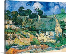 Thatched Cottages at Cordeville, by Vincent Van Gogh, 1890. Musee d'Orsay, Paris, France