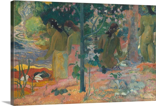 The bathers by paul gauguin 1897 photo canvas print for Design your own bathers
