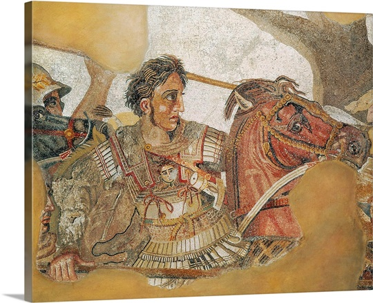 The battle of issus roman art photo canvas print great for Battle of issus painting
